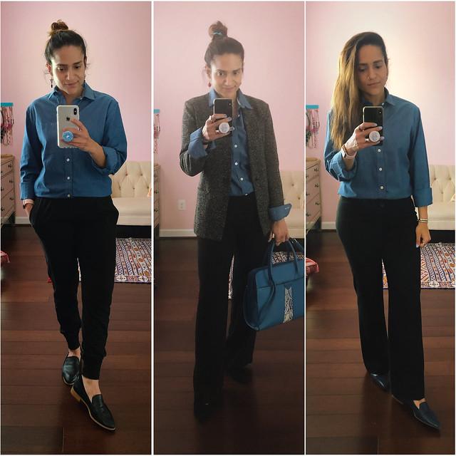 Three Ways Blue Buttondown
