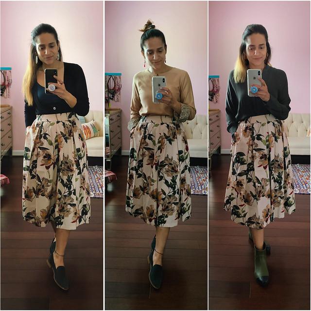 Three Ways Floral Skirt