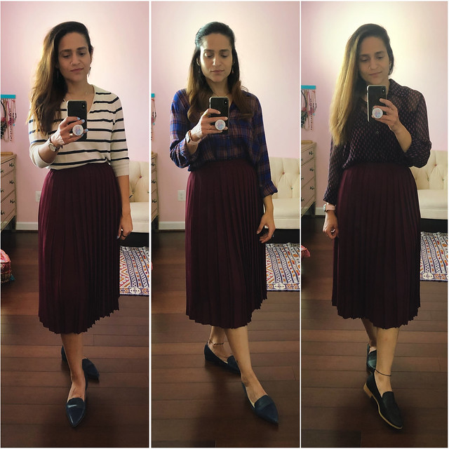 Three Ways Burgundy Skirt