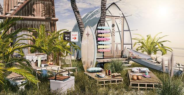 Beach camping...
