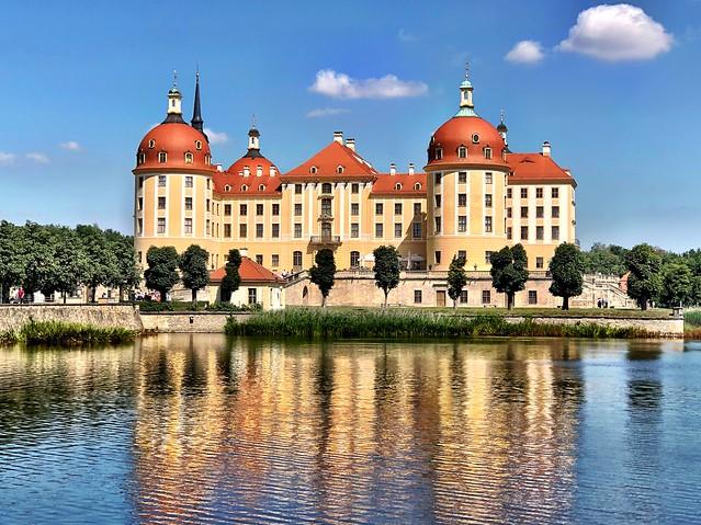 An fairy-tale view of the Moritzburg castle