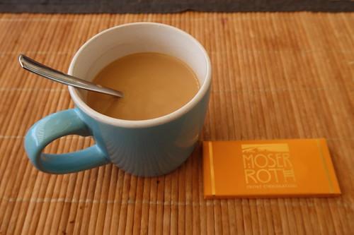 Caramel Schokolade zum Nachmittagskaffee