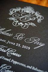 White Ink Wedding Stationery