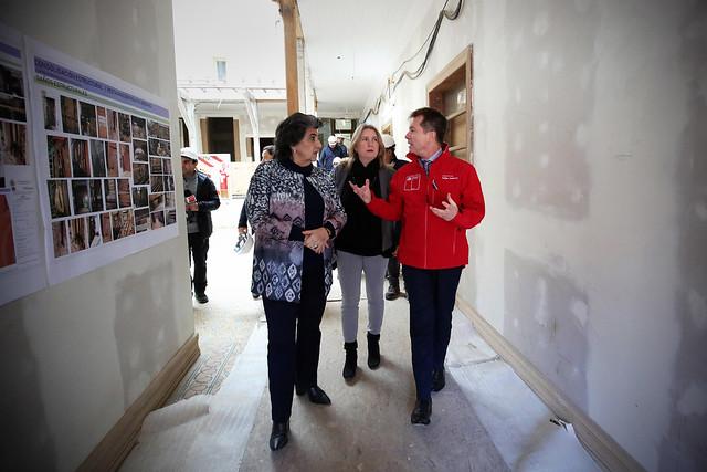 Visita al reinicio de las obras de restauración del Palacio Vergara - Viña del Mar | 06.08.19