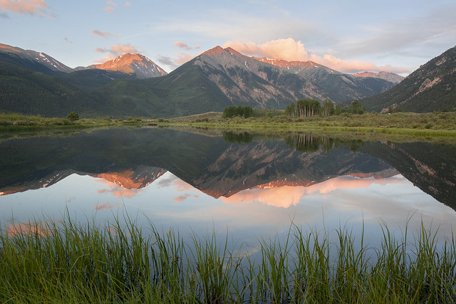 Twin Lakes Reflection Summer