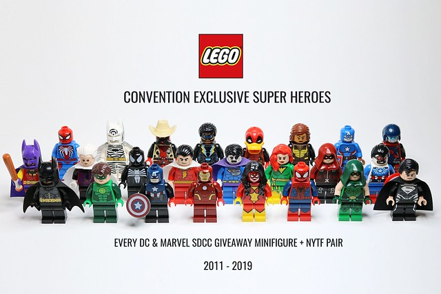 All 24 LEGO Super Heroes Convention Exclusive Minifigures (2011 to 2019 NYTF & SDCC)