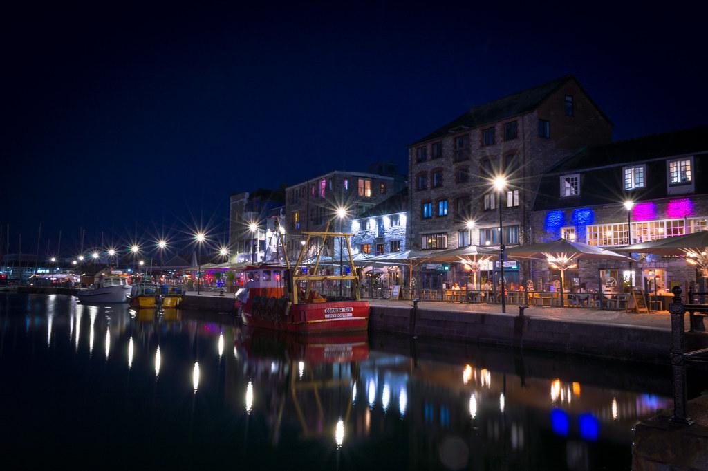 Barbican, Plymouth at night