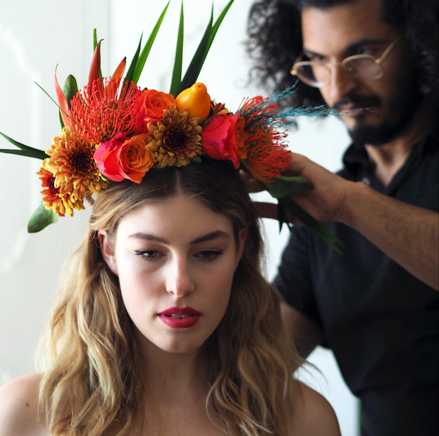Hairdressing / styling @ backstage