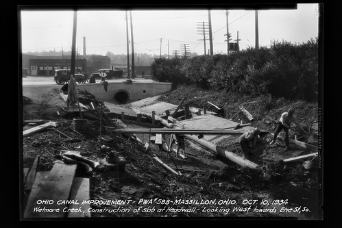 City of Massillon: Canal improvements 1930s