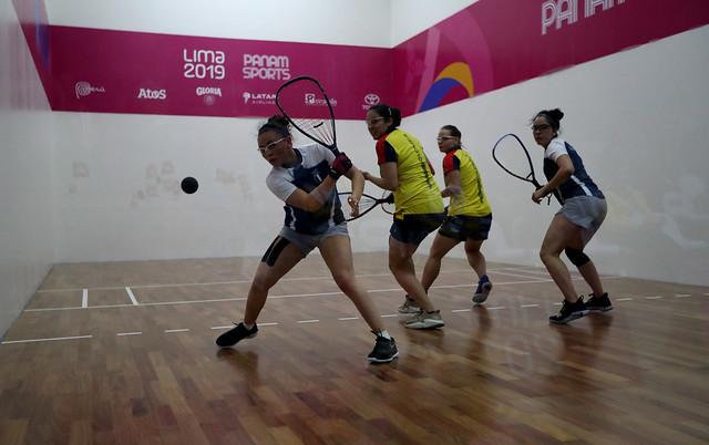 Pareja de ráquetbol clasifica a la final de Lima 2019
