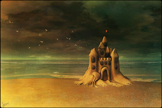 Maybe our dreams are like sand castles... ♥