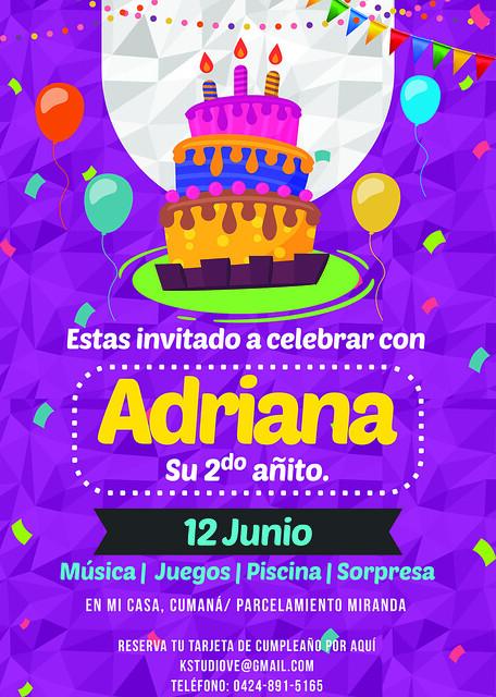 Invitación digital para evento infantil