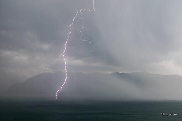 Journée orageuse sur le Léman