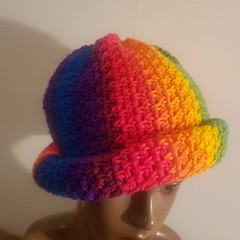 Just finished: multicolored crochet cap. $15 . . #sale #crochet #fashion #art #FallLooks