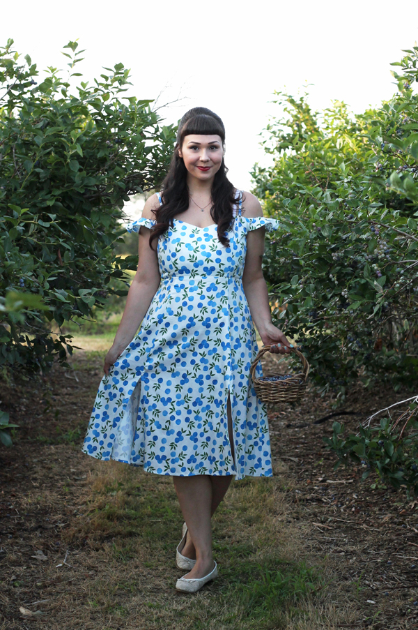collectif blueberry dress