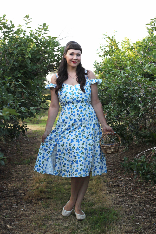 blueberry print dress collectif