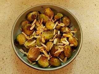 Pomegranate Roasted Brussels Sprouts