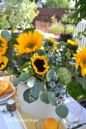 how to arrange sunflowers