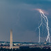 Lightning over Washington DC