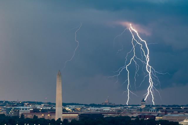 Lightning over Washington DC