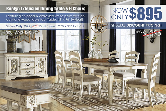 Realyn Rectangular Extension Dining Table & 6 Chairs_D743-45-01(6)-60