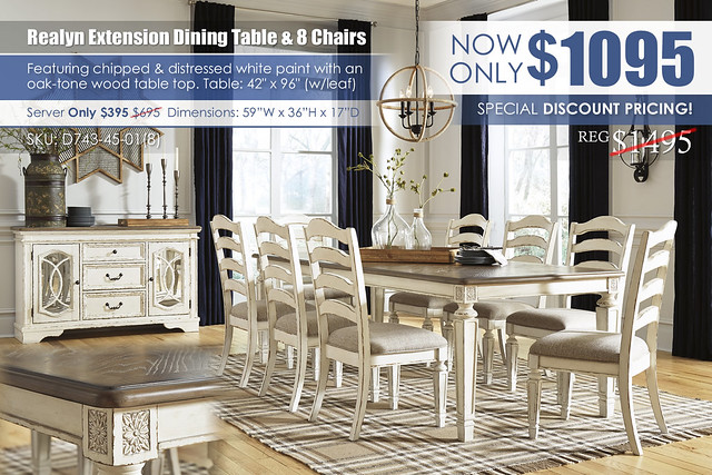 Realyn Rectangular Extension Dining Table & 8 Chairs_D743-45-01(8)-60