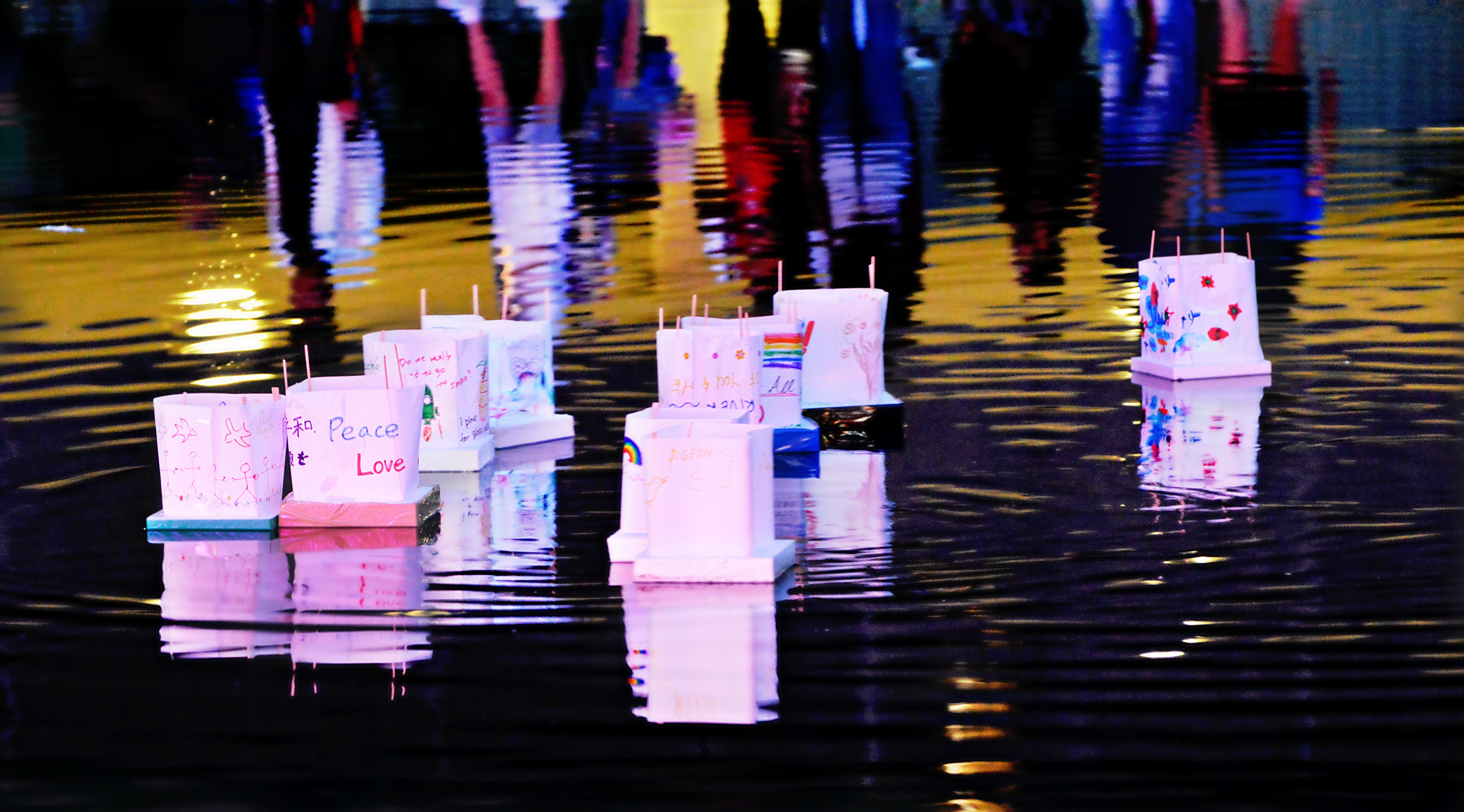 Hiroshima / Nagasaki Day .... Paper Peace Lanterns .... Toronto, Ontario, Canada