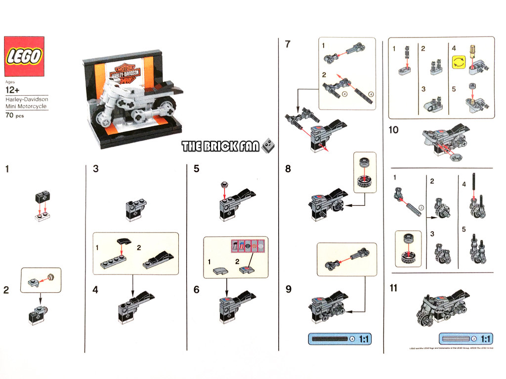 LEGO Mini Harley-Davidson Motorcycle