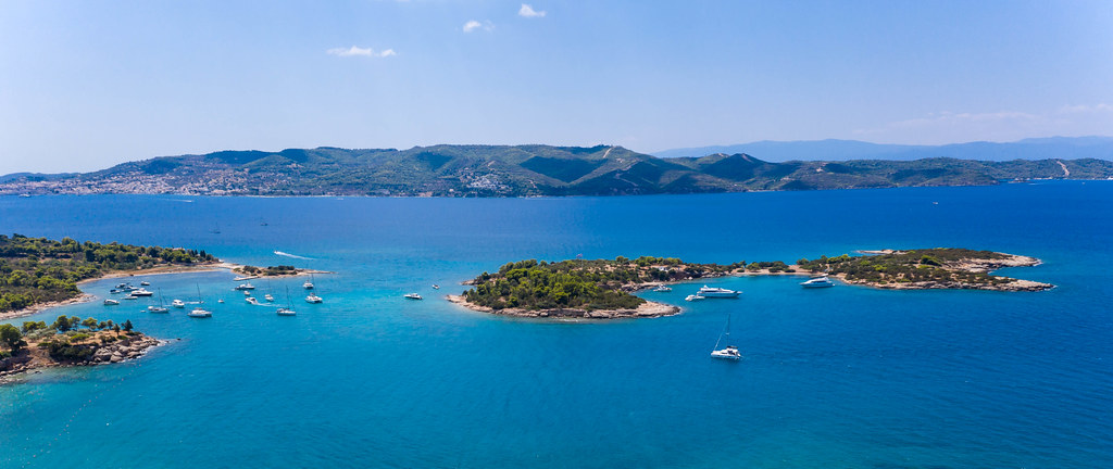 Image result for AERIAL saronic gulf BEACH