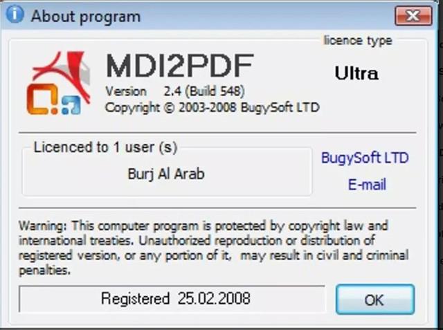 MDI2PDF Converter