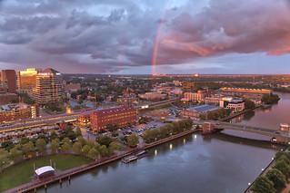 Rainbow over Wilmington