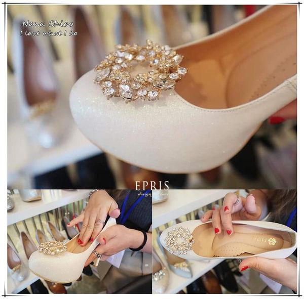 台中婚鞋 鞋飾 白色婚鞋
