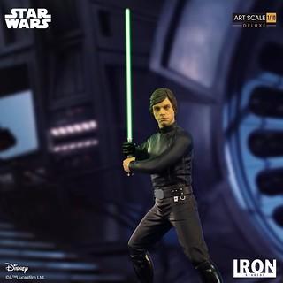 再現經典的「父子大對決」場景! Iron Studios《星際大戰六部曲:絕地大反攻》路克·天行者 豪華版 Luke Skywalker Deluxe 1/10 比例全身雕像作品