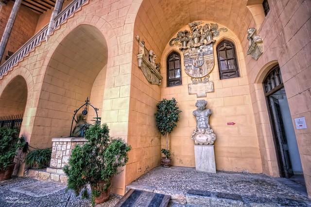 Escut nobiliari de la família Borja. Palau Ducal de Gandia