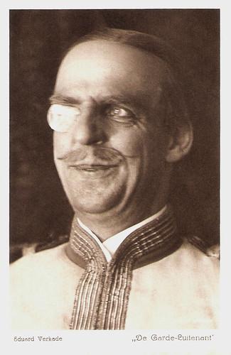 Eduard Verkade in De garde-luitenant