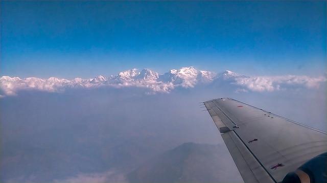 L'Himalaya vu d'avion