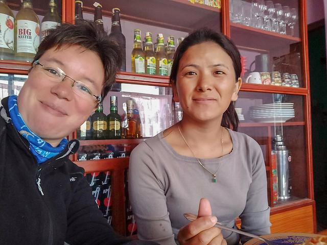 Déjeuner avec Lhamu