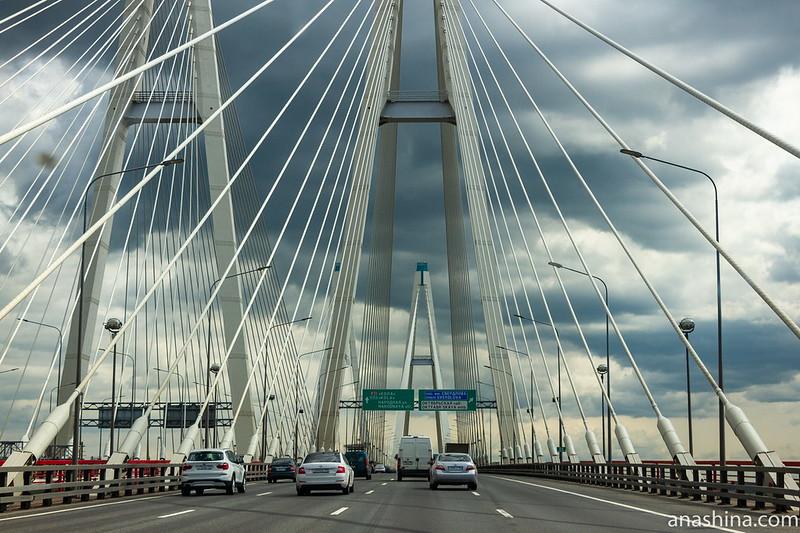 Большой Обуховский мост, Санкт-Петербург, КАД