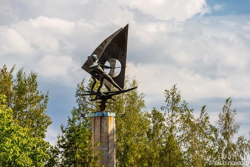 Сестрорецкий Разлив, Санкт-Петербург, Скульптурная композиция «Виндсёрфинг»
