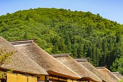 The thatched roofs of Ouchijuku, Aizu Wakamatsu, Japan