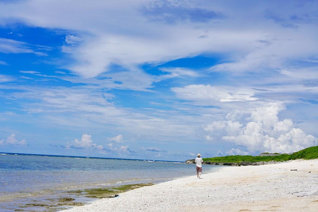 有人島最南端の波照間島のさらに最南端にあるビーチ「ペムチ浜」を独占・・・!