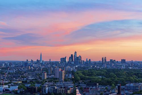london skyline city cityscape clouds colour hdr dri sunset dusk skyscrapers