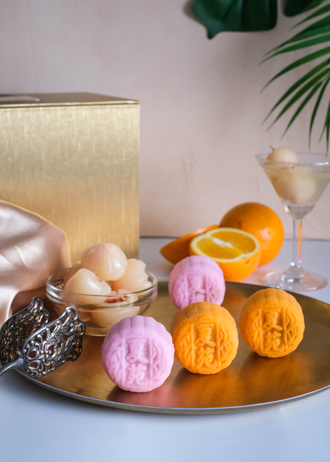 Ritz Snow Mooncakes Orange and Lychee
