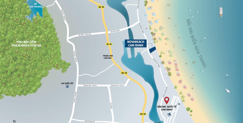 Vị trí dự án NovaBeach Cam Ranh