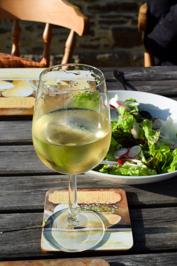 White Wine in Brittany, France