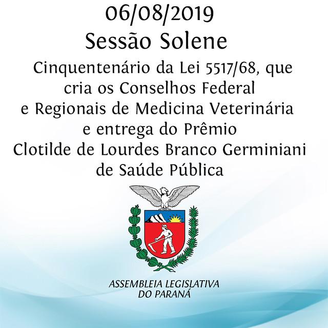 Sessão Solene 50 anos da Lei que criou os Conselhos de Medicina Veterinária