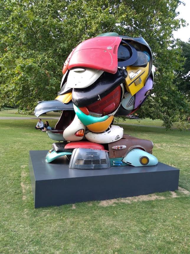 Transformer Morris Minor bonnet (hood) forms the beak