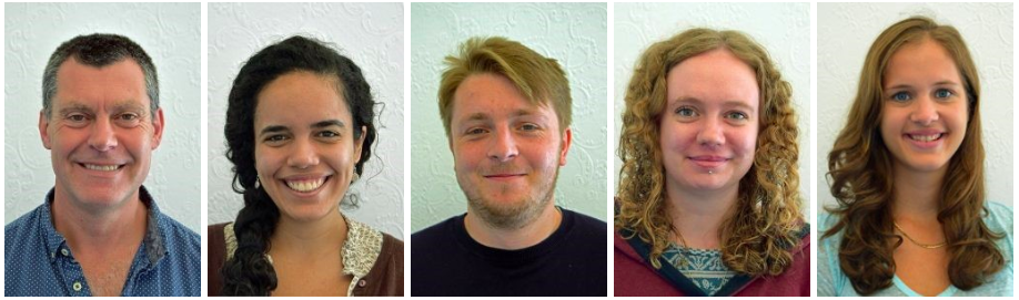 A photo of each of the new WISE CDT students