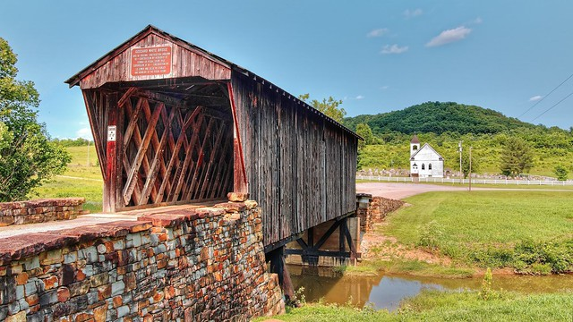 Goddard White Covered Bridge - Hillsboro, Kentucky