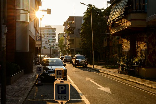 goldenhour flare businesstrip sunrays sunrise tirana albania travel traveling streetphotography street sunstar 50 50mm fifty magicfifty niftyfifty